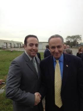 Joe with Sen. Chuck Schumer